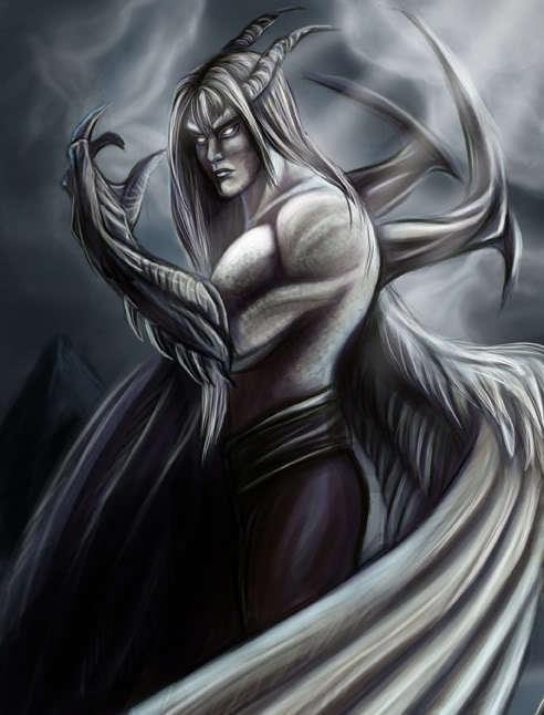 Dark,Monster&Demon Lucifer-The-Fallen-black-n-white-demon-morality-12303609-492-646