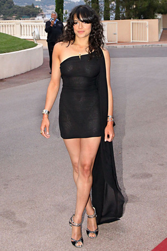 Michelle Rodriguez at the World Musica Awards in Monaco 5-18-2010