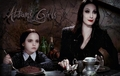 Morticia and Wednesday - addams-family fan art