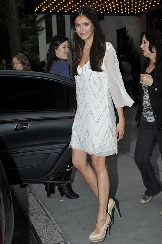 Nina leaving her hotel in NYC 21st May