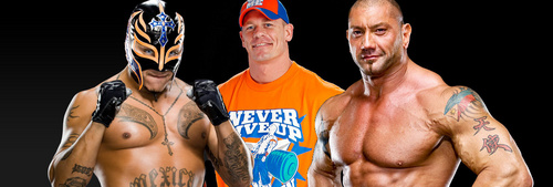 Rey Mysterio-John Cena-Batista