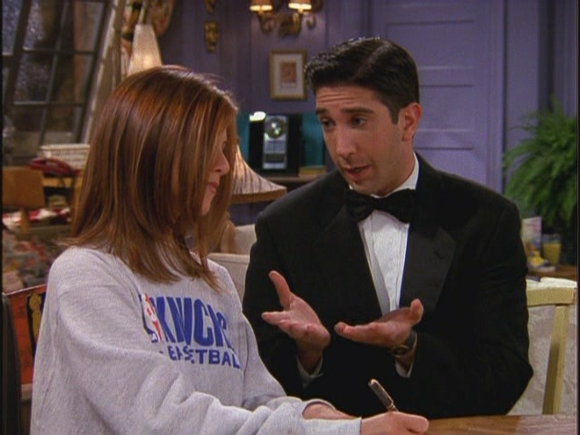 Ross/Rachel - 3x02 - TOW No One's Ready