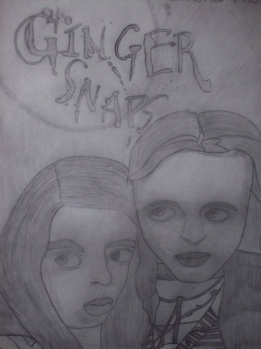 hand drawn ginger snaps