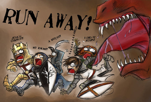 holy monty python run away !!! - monty-python-and-the-holy-grail Fan Art