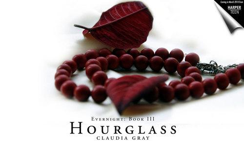 hourglass red beads
