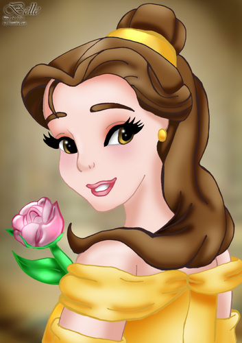 2. Belle - disney-princess Fan Art
