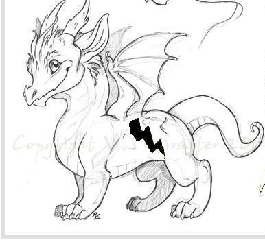 Bolt in Dragon form