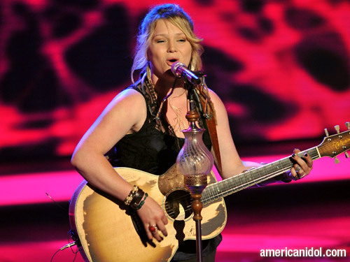 """Crystal Bowersox singing """"Come To My Window"""""""