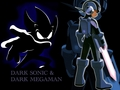 Dark MegaMan & Dark Sonic - megaman-and-sonic-the-hedgehog wallpaper