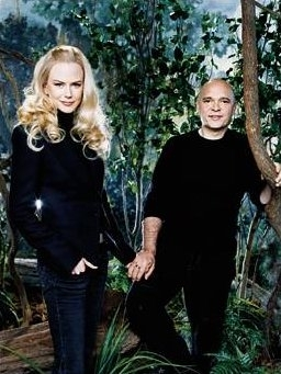 Director Anthony Minghella and Nicole Kidman
