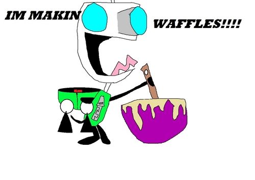 GIRS MAKIN wafel :P