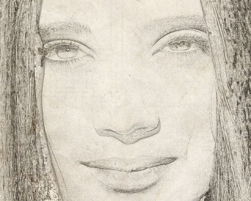 Drawing wallpaper entitled Jennifer Connelly