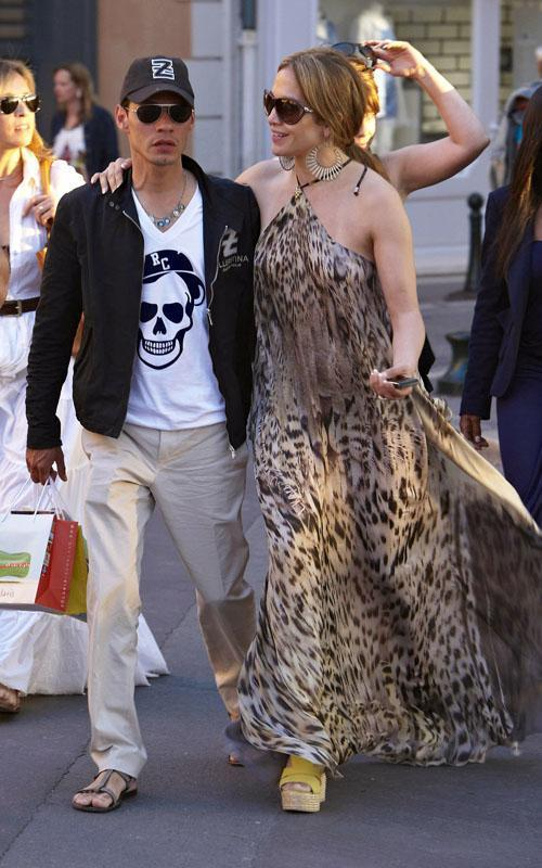 Jennifer Lopez and Marc Anthony shopping in St Tropez (May 24).