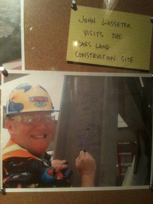 John Lassater at Carsland Construction Site, Disneyland Resort