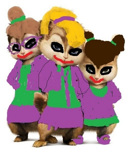 Alvin and the Chipmunks wallpaper called Joker Chippettes