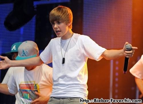 Justin Bieber Performs at BBC Radio One