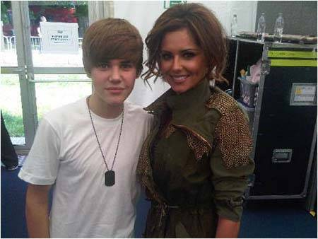 Justin Bieber with Chery Cole