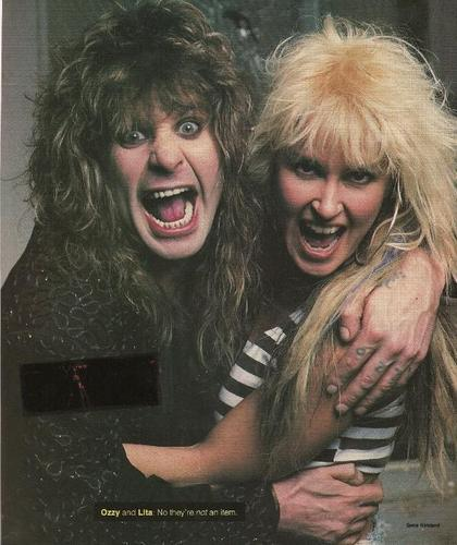 Lita Ford and Ozzy Osbourne