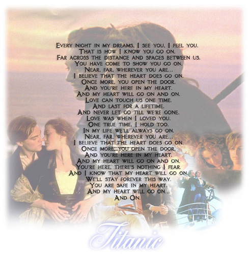 Titanic wallpaper titled Love can touch us one time....