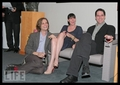 Matthew Gray Gubler with Paget Brewster and Thomas Gibson