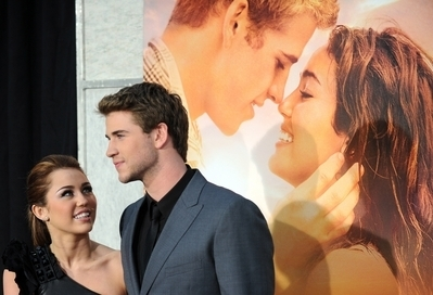 "Miley Cyrus in the Premiere ""The last song"""