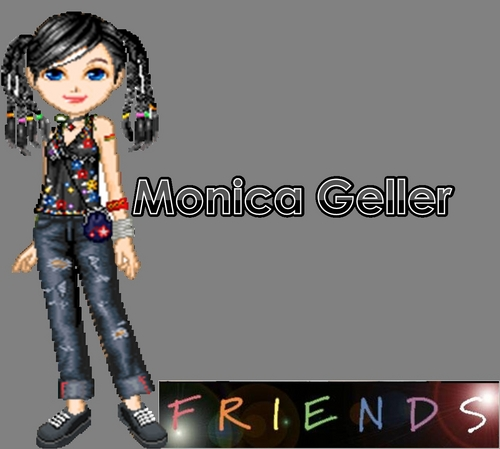Друзья Обои called Monica Geller Anmated