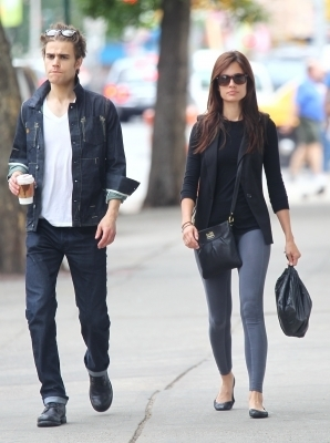 Paul Wesley and Torrey DeVitto in NYC - May 22th