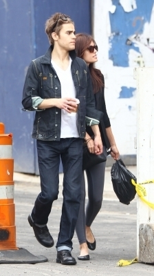 Paul Wesley and Torrey DeVitto in NYC - May 22th - the-vampire-diaries photo