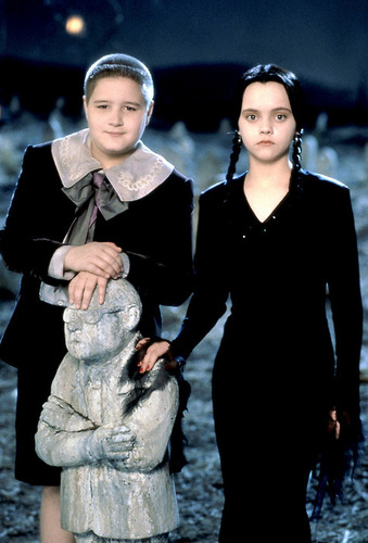 Pugsley and Wednesday Addams