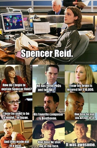 Dr. Spencer Reid Hintergrund entitled Reid