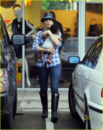 Sandra Bullock: Austin with Baby Louis!