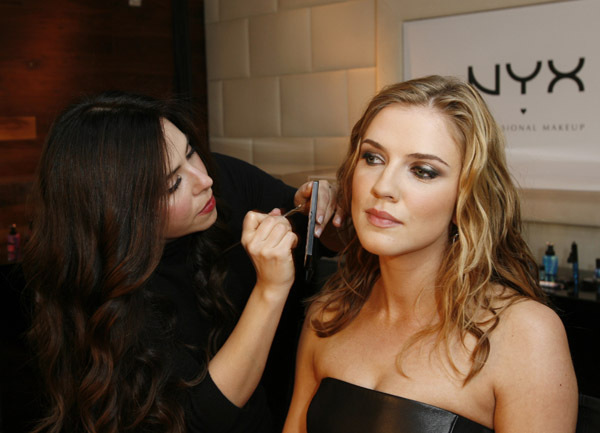 Sara Canning Attends Nyx Cosmetics Decade +1 Anniversary - the-vampire-diaries photo
