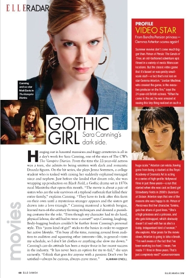 Sara Canning is featured in Elle Canada's June 2010 issue - the-vampire-diaries photo