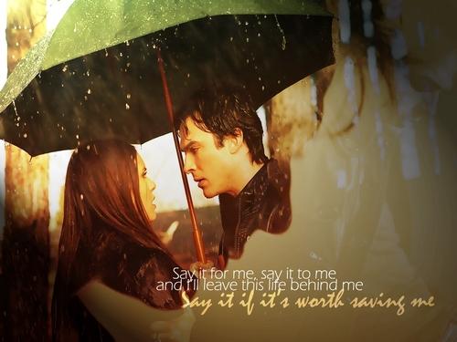 Chương trình truyền hình Nhật ký ma cà rồng hình nền entitled Save Me - Damon and Elena