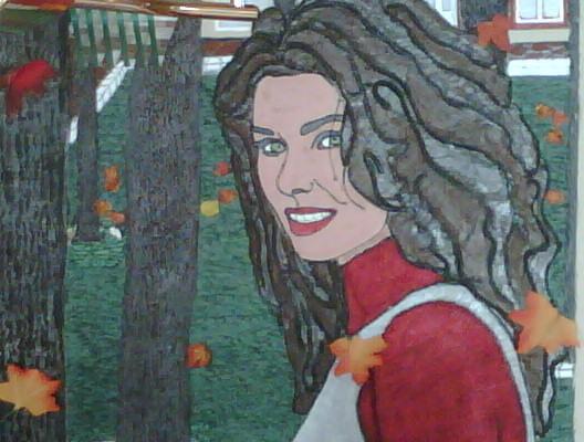 Shania Twain Hand Made portrait