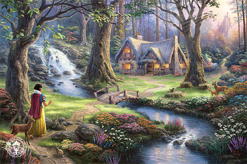 Snow White Finds The Cottage