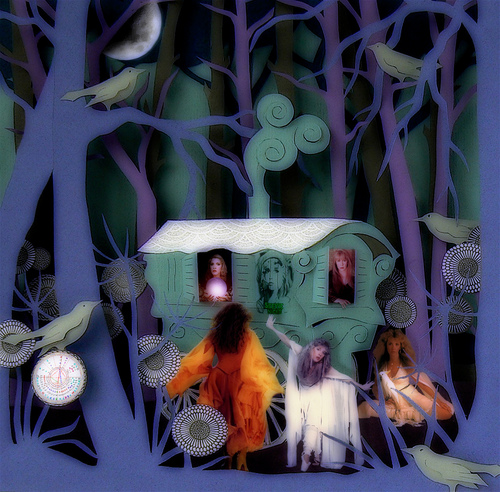 "Stevie Nicks and a variation on Helen Musselwhite's art work: ""Gypsy Caravan"""