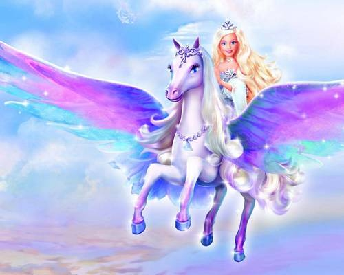 Filem Barbie kertas dinding titled Barbie magic of pegasus