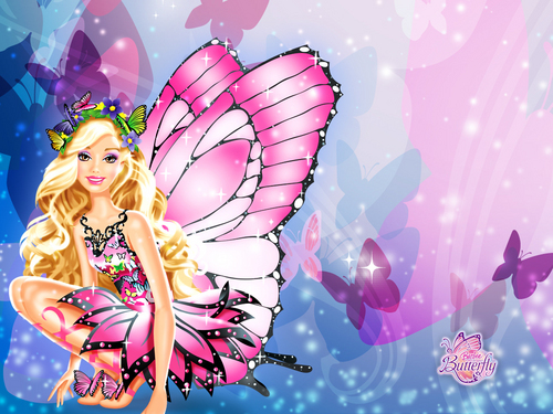 Barbie فلمیں پیپر وال entitled barbie mariposa