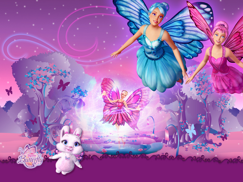 New Kids Cartoons Princess Barbie Mariposa Beautiful And