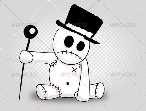 cute voodoo doll with hatt ^^