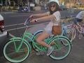 emily riding her bike