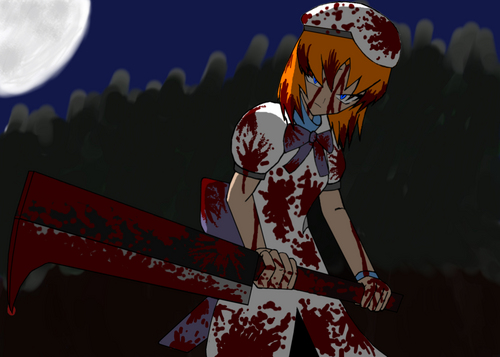 Higurashi no Naku Koro ni achtergrond called fan art
