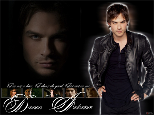 The Vampire Diaries wolpeyper entitled ohhhh Damon