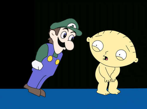 weegee stares at stewie