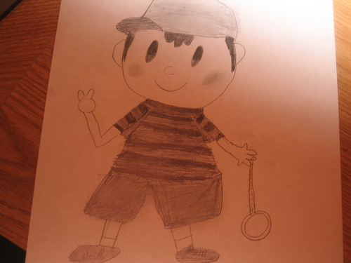 A picture of Ness that i drew