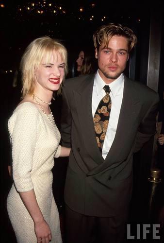 Actors Juliette Lewis and Brad Pitt in 1991
