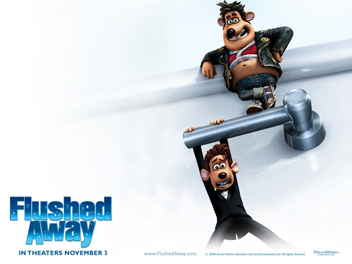 Flushed away achtergrond