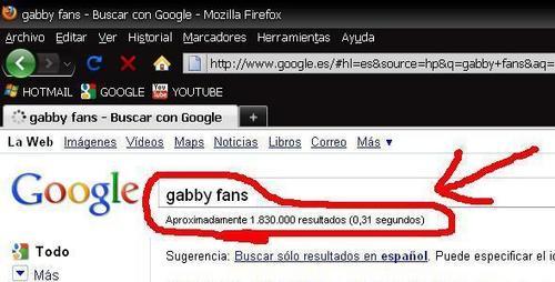 GABBY 粉丝 (GOOGLE)