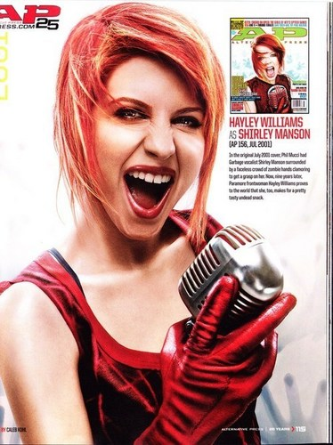 Hayley as Shirley Manson